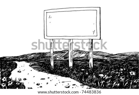 Illustration of a Billboard - stock vector