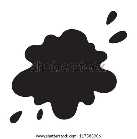 illustration of a black color splash on a white background - stock vector