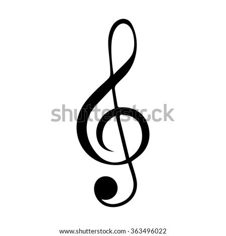 Illustration of a Black logo clef. Vector Illistration. Black Isolated on white background - stock vector