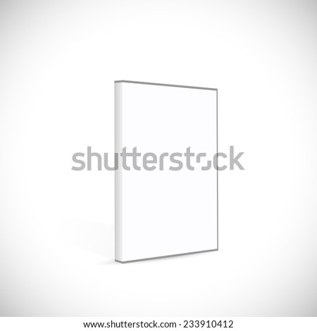 Illustration of a blank DVD case isolated on a white background. - stock vector