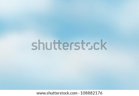 illustration of a blue sky and white clouds - stock vector