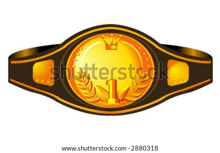 illustration of a box champion's belt. Useful for a lot of projects - stock vector