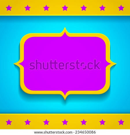 Illustration of a bright banner - stock vector