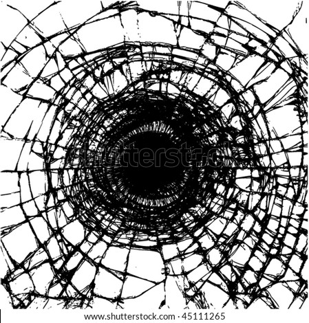 Illustration of a broken glass. Vector.