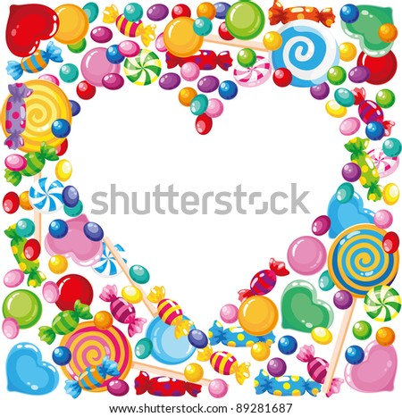 illustration of a candy heart - stock vector