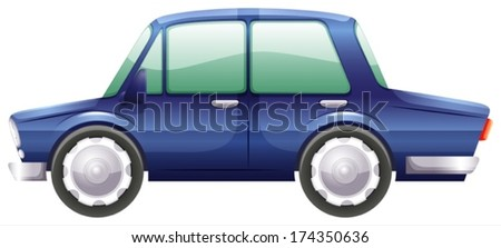 Illustration of a car on a white background