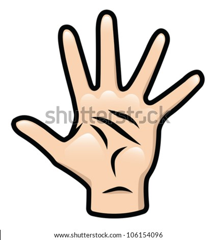 Illustration of a cartoon hand. Eps 10 Vector. - stock vector