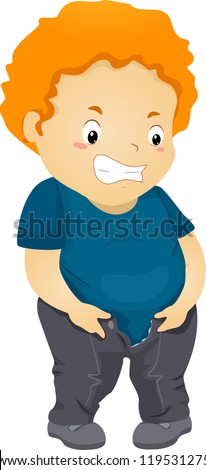 Chubby boy cartoon
