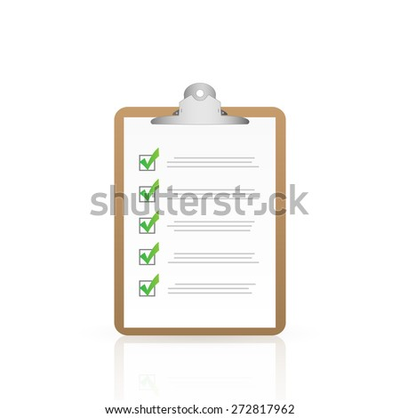Illustration of a clipboard isolated on a white background. - stock vector