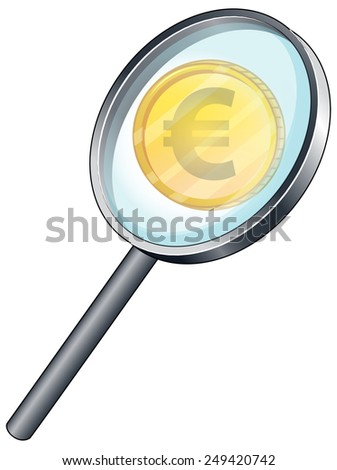 Illustration of a close up euro currency