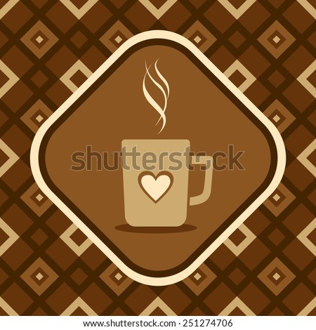 Illustration of a coffee mug - stock vector