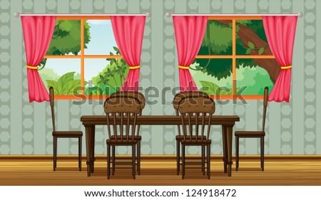Dining Room Vector Dining Room Stock Vector