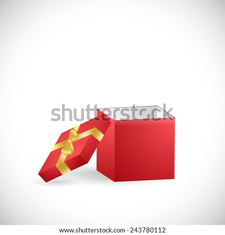 Illustration of a colorful gift box isolated on a white background. - stock vector