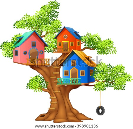 Cubby house stock images royalty free images vectors for Colorful tree house