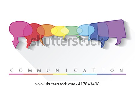 Illustration of a communication concept, vector - stock vector