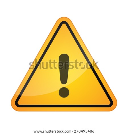 Illustration of a danger signal icon with an exclamation sign - stock vector