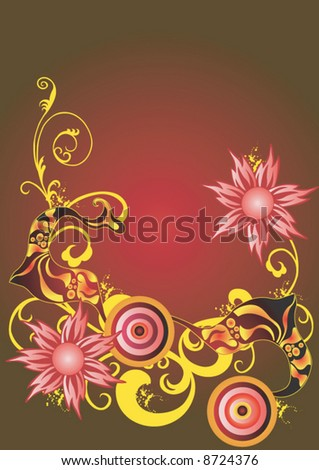 Illustration of a decorative background