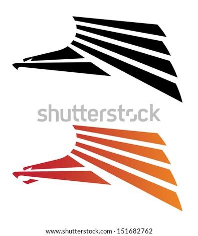 illustration of a eagle predator - stock vector