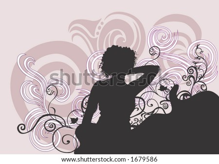 Illustration of a female silhouette