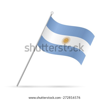 Illustration of a flag from Argentina isolated on a white background. - stock vector