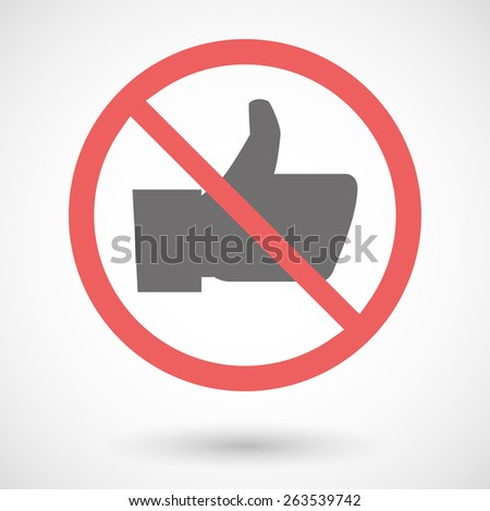 Illustration of a forbidden signal with a thumb hand