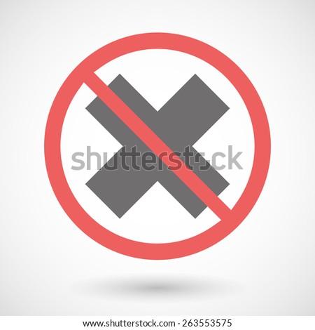 Illustration Forbidden Signal X Sign Stock Vector 263553575
