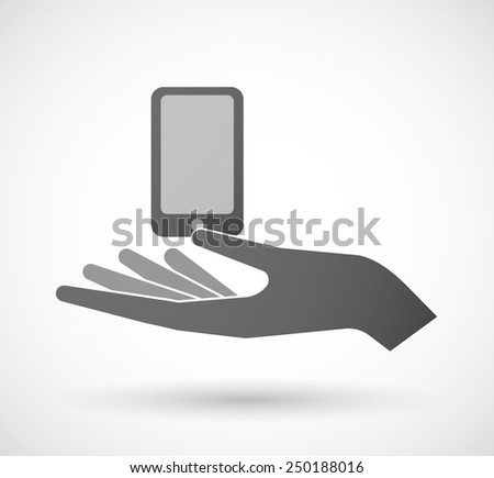 Illustration of a hand giving a phone - stock vector