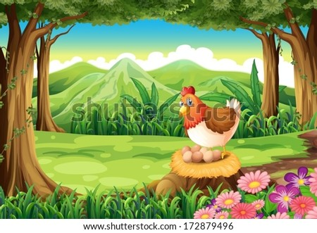Coloring Pictures Of Animals That Lay Eggs : Cartoon hen stock images royalty free & vectors shutterstock