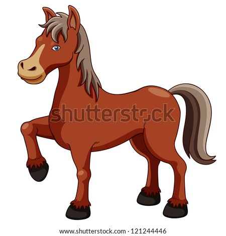 Illustration of a horse - stock vector