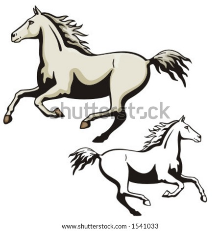 Illustration of a horse. - stock vector