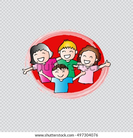 Illustration of a kids on a transparent background