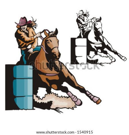 Clip Art Barrel Racing Clip Art barrel racing stock photos royalty free images vectors illustration of a ladies racing