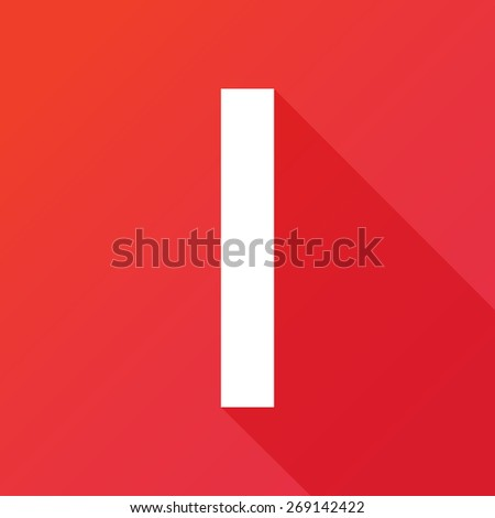 Illustration of a Letter with a Long Shadow - Letter l. - stock vector