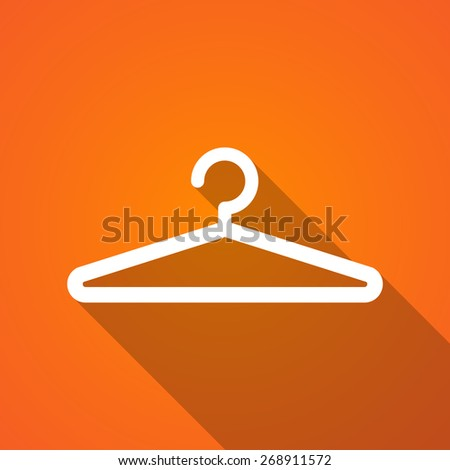 Illustration of a long shadow hanger icon - stock vector