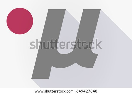 Illustration Long Shadow Japan Flag Micro Stock Vector 649427848