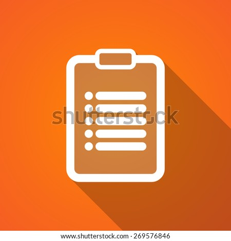 Illustration of a long shadow report icon - stock vector