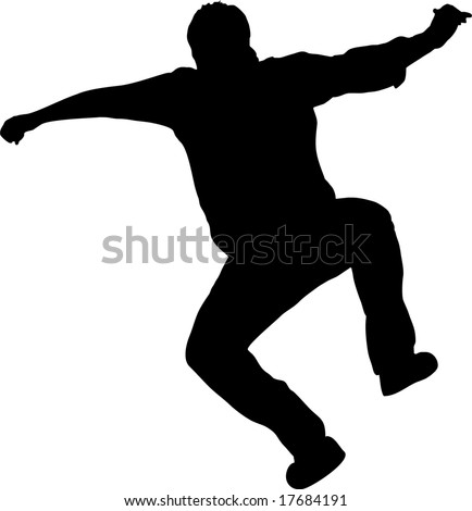 illustration of a man jumping - stock vector