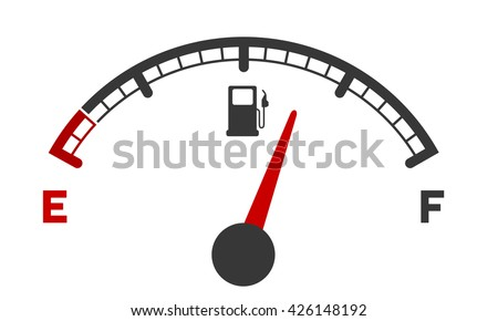 illustration of a motor gas gauge, eps 10 vector - stock vector
