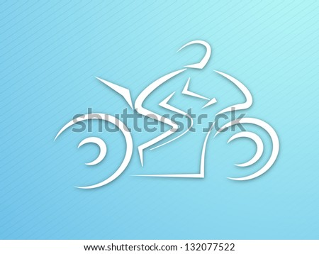 Illustration of a motorbike racing. - stock vector