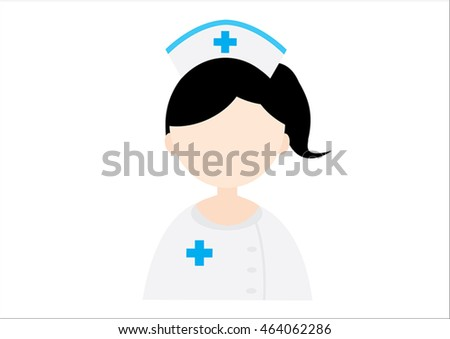 Illustration of a Nurse on a white background - vector.