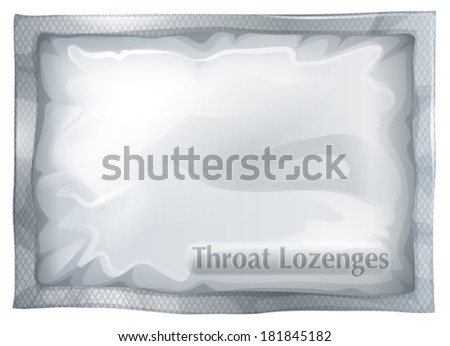 Illustration of a pack of throat lozenges on a white background - stock vector