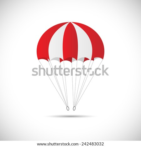 Illustration of a parachute isolated on a white background. - stock vector