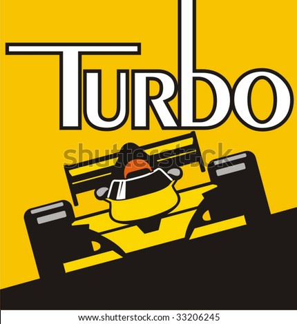 Illustration of a racer on the formula. - stock vector
