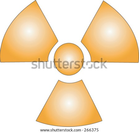 illustration of a radioactive symbol. - stock vector