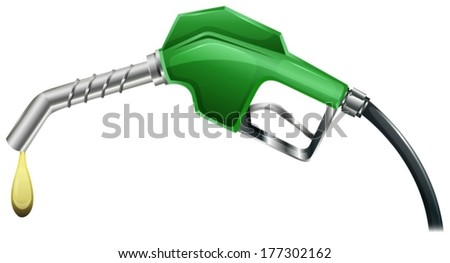 Illustration of a refilling equipment on a white background - stock vector