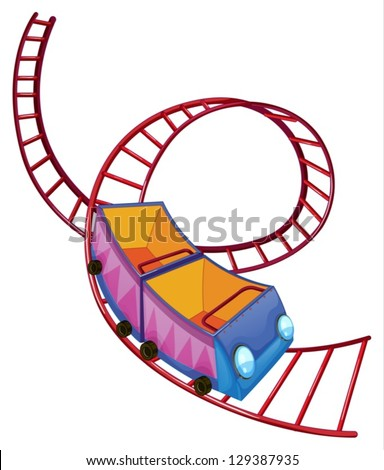 illustration roller coaster ride on white stock vector 129387935 rh shutterstock com roller coaster clipart png roller coaster clipart images