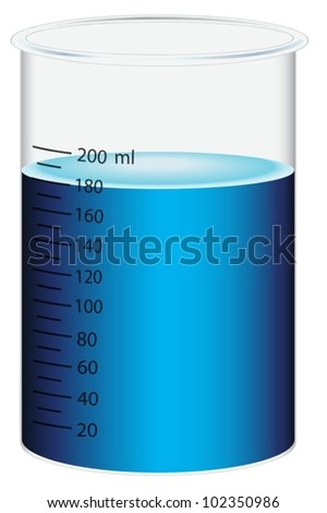 Illustration of a scientific beaker - stock vector