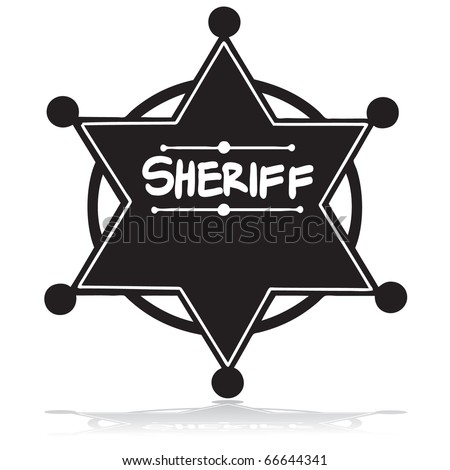 Illustration of a sheriff's badge silhouette