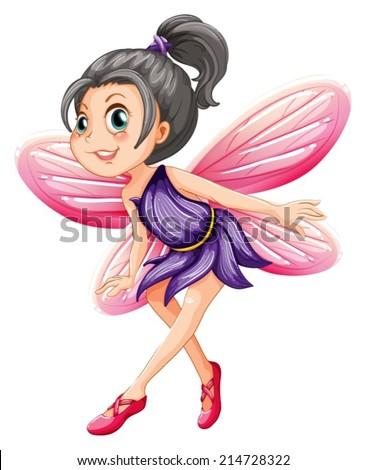 Illustration of a single fairy - stock vector