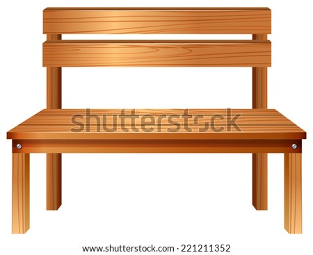 Illustration of a smooth wooden furniture on a white background   - stock vector